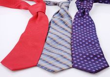 Neckties Isolated Stock Images