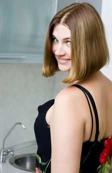 Free Woman On Kitchen Stock Image - 6085261
