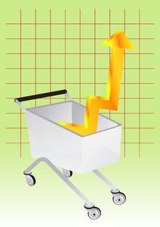 Shopping With Graph Chart Stock Image
