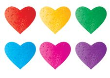 Free 3d Crystal Colorful Hearts Stock Photo - 6085330