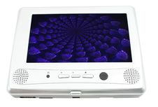 Free Dvd Player With Illustration On White Royalty Free Stock Images - 6085349