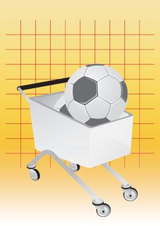 Free Shopping Cart And Soccer Stock Images - 6085384