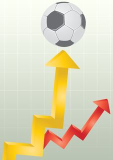 Soccer Chart Royalty Free Stock Photography