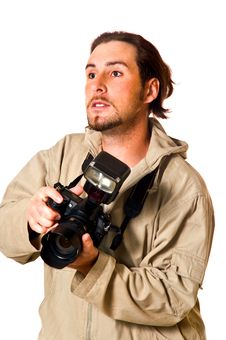 Free The Man With The Camera Stock Photos - 6085583