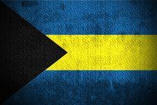 Free Grunge Flag Of The Bahamas Stock Photo - 6085740