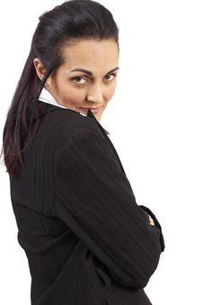 Free Beautiful Brunette Businesswoman Stock Photography - 6086022