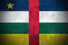 Grunge Flag Of Central African Republic Royalty Free Stock Photo