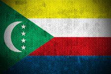 Grunge Flag Of Comoros Stock Image