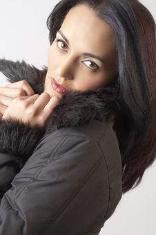 Portrait Of Beautiful Brunette Woman Royalty Free Stock Image