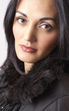 Free Portrait Of Beautiful Brunette Woman Stock Image - 6086291