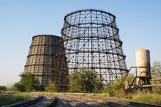 Free Cooling Towers And Railway Stock Photography - 6087192
