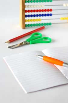 Free Notebook And School Aids Stock Images - 6087724
