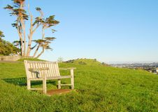 Free Bench At Park Royalty Free Stock Photography - 6088317