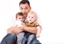 Free Daddy Giving A Grouphug Stock Photos - 6089533