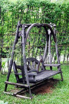 Free Wooden Garden Chair. Stock Images - 6089824