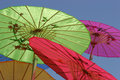 Free Colorful Paper Parasols Stock Image - 6094851