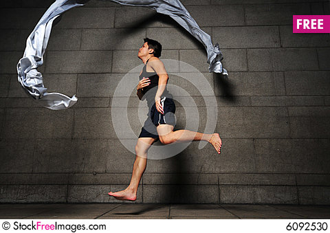 Free Man In Motion 14 Stock Photo - 6092530