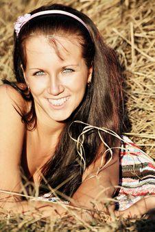 Free Meadow Girl Stock Photo - 6090130