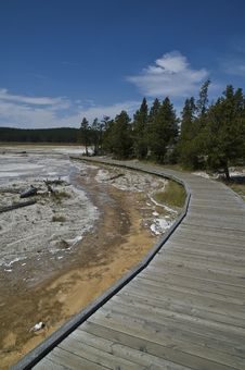 Free Yellow Stone Boardwalk Stock Photography - 6090392