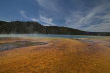 Yellowstone Hotspring Stock Photo