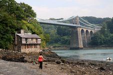 Menai Suspension Bridge Stock Image