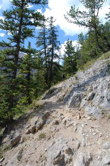 Free Hiking Trail In Rocky Mountains Royalty Free Stock Image - 6090746