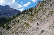 Free Hiking In Rocky Mountains Stock Images - 6091154