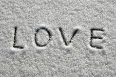 Free Snow Love Royalty Free Stock Photography - 6091787
