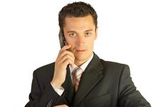 Free Businessman With Cellphone. Stock Photos - 6092263