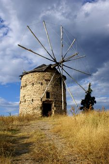 Free Greek Windmill Stock Image - 6092361
