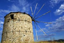 Free Greek Windmill Stock Photo - 6092380