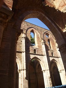 San Galgano S Vaults Stock Photography