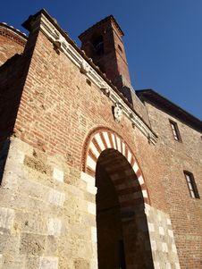 Facade Of Montesiepi Hermitage Stock Images