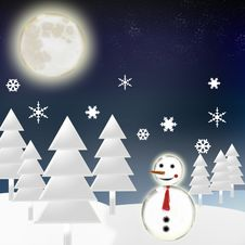 Free Snowman Stock Photography - 6093442