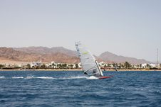 Free Windsurfing In Egypt Stock Image - 6094161