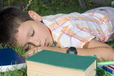 The Sleeping Student Royalty Free Stock Photography