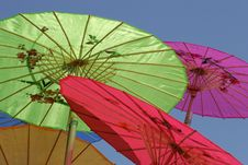 Colorful Paper Parasols Stock Image