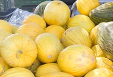 Free Yellows Melons Close Up Royalty Free Stock Images - 6094989