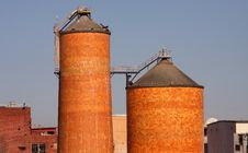 Free Brick Silos Stock Photo - 6094990