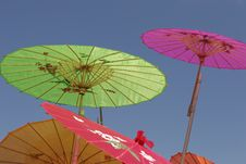 Colorful Paper Parasols Royalty Free Stock Photos
