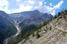 Free Hiking In Rocky Mountains Stock Images - 6095154