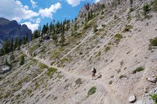 Free Hiking In Rocky Mountains Royalty Free Stock Photography - 6095167