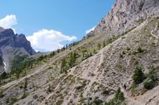 Free Hiking In Rocky Mountains Royalty Free Stock Photo - 6095225