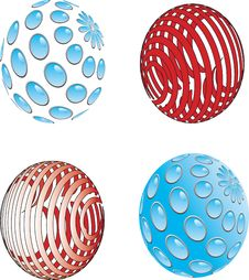 Red And Blue Sphere Stock Photos