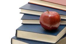 Free Apple On Books Stock Photos - 6095493