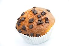 Free Cupcake-caramel Muffin,with Chocolate Chips Stock Image - 6095751