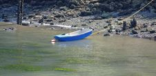 Low Tide Rowboat Royalty Free Stock Photos