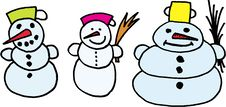 Snowmans Stock Photography