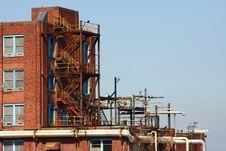 Industrial Brick Building Royalty Free Stock Photos
