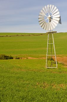 Free Traditional Windmill In A Green Pasture Stock Photo - 6096420
